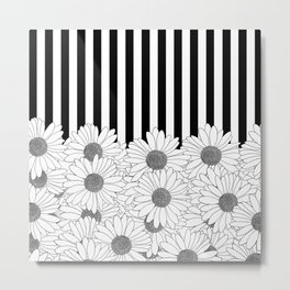 Daisy Stripe Metal Print