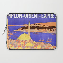 Vintage Simplon Orient Express London Constantinople Laptop Sleeve