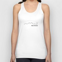 new orleans Tank Tops featuring New Orleans by Fabian Bross