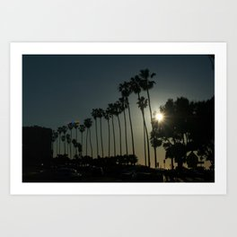 Hello, Palm Trees Art Print