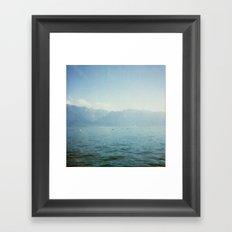 Lake memories Framed Art Print
