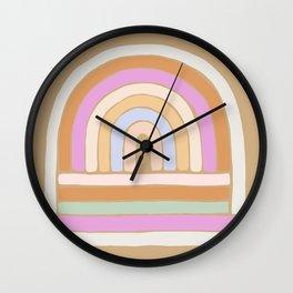 rainbow : sand Wall Clock