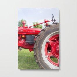 Farmall Vintage Tractor Metal Print