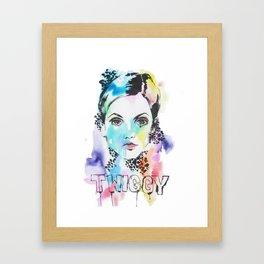 I heart Twiggy Framed Art Print