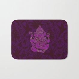 Ganesha Elephant God Purple And Pink Bath Mat