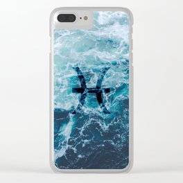 Water Sign: Pisces Clear iPhone Case