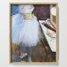 Dancer In Her Dressing Room By Edgar Degas | Reproduction | Famous French Painter Serving Tray