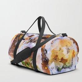 Sushi board - watercolor Duffle Bag