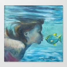 Fishy Lips Canvas Print