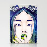 luna Stationery Cards featuring Luna by Stevyn Llewellyn