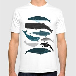 Whales and Porpoises sea life ocean animal nature animals marine biologist Andrea Lauren T-shirt