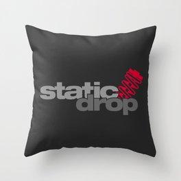 Static drop v1 HQvector Throw Pillow