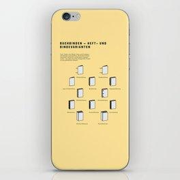 Buchbinden – Heft- und Bindevarianten iPhone Skin