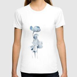 Blue grey florals T-shirt