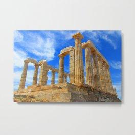 The Temple of Poseidon at Sounion I Metal Print