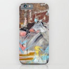 Desert Mountain Tango - Original Art Multi Media Canvas by Jacob von Sternberg aka Anutu iPhone Case