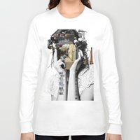megan lara Long Sleeve T-shirts featuring Crazy Woman - Lara Lisa Bella by Marko Köppe