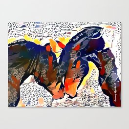 I Spotted Horses Canvas Print