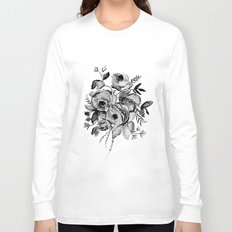 GREYSCALE ROSES Long Sleeve T-shirt