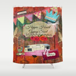 Hippie Heart, Gypsy Soul Collage Shower Curtain