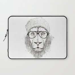 Cool lion (bw) Laptop Sleeve