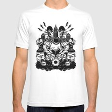 Octopus Drummer 2010 Mens Fitted Tee White MEDIUM