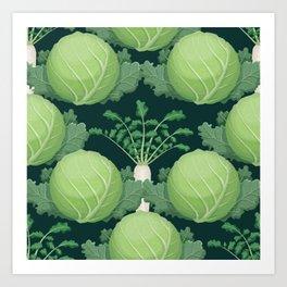 Cabbages and Daikon Art Print