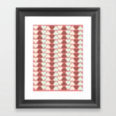 Creamy Hearts  Framed Art Print