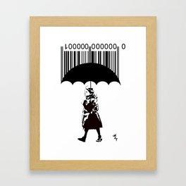 """""""The Girl in the Red Coat"""" Framed Art Print"""