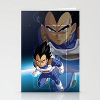 vegeta Stationery Cards featuring Vegeta by Neo Crystal Tokyo