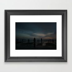 Ghost Beach Framed Art Print