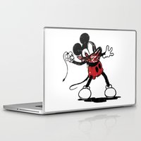 banksy Laptop & iPad Skins featuring Banksy Mouse by luis pippi