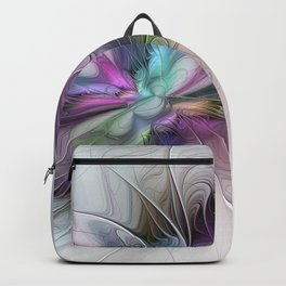 New Life, Abstract Fractals Art Backpack