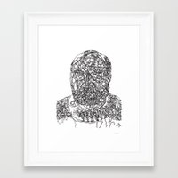 hemingway Framed Art Prints featuring Hemingway by The New Minimalist