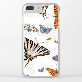 Colorful butterflies of europe Clear iPhone Case