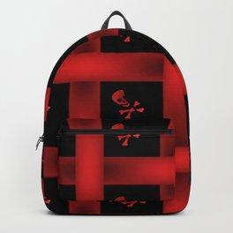 Skull Pattern Red Backpack