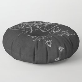 Bicycle 1889 Patent Cycling Floor Pillow