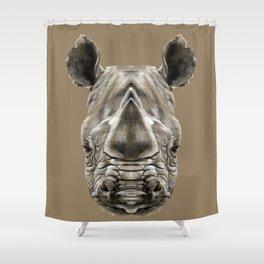 Rhino Sym Shower Curtain