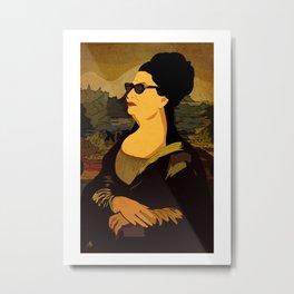 Oum Kolthoum Mona Lisa Metal Print