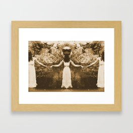 Woman On The Water Framed Art Print