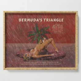 Bermuda's Triangle - Sexy Retro Nude / Naked Erotic Pulp Novel Cover Art Serving Tray