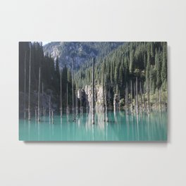 Kaindy Lake, Kazakhstan Metal Print