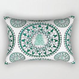 Evergreen Holiday/Christmas Tree Winter Mandala Textile Rectangular Pillow
