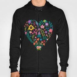 Floral Heart Hoody