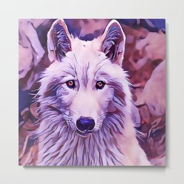 The Arctic Wolf Metal Print