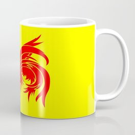Flag of wallonia - Drapeau wallon,wallonie,Belgique,Belge,Bruxelles,France,Mons,Charleroi,coq,jaune Coffee Mug