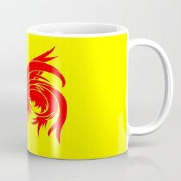 Flag of wallonia - Drapeau wallon,wallonie,Belgique,Belge,Bruxelles,France,Mons,Charleroi,coq,jaune Coffee Mug