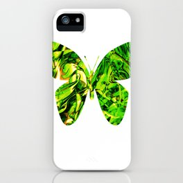 Fluid Butterfly (Green Version) iPhone Case
