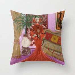 """""""MARUSHKA, HOME ON TUESDAY EVENING"""" Throw Pillow"""
