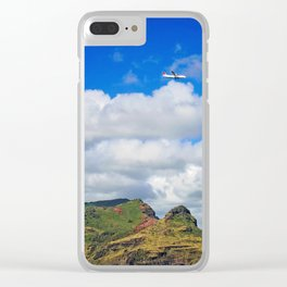 Landing in Paradise Clear iPhone Case
